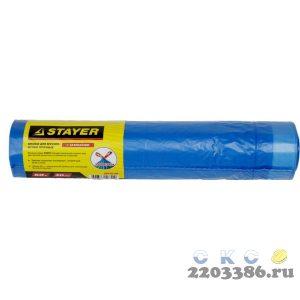 """Мешки для мусора STAYER """"Comfort"""" с завязками, особопрочные, голубые, 60л, 20шт"""