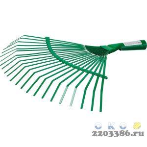 Грабли веерные без черенка, РОСТОК 39621, пластинчатые, 385x450 мм