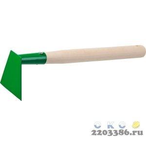 Мотыга, РОСТОК 39661, с деревянной ручкой, ширина рабочей части - 100мм