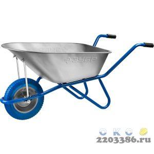ЗУБР ПТ-100 тачка садово-строительная одноколесная, 180 кг