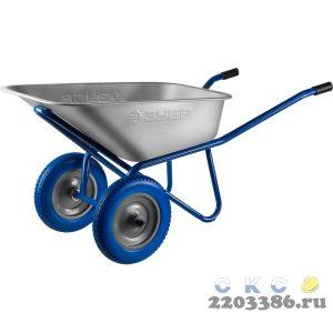 ЗУБР ПТ-300 тачка строительная двухколесная, 240 кг