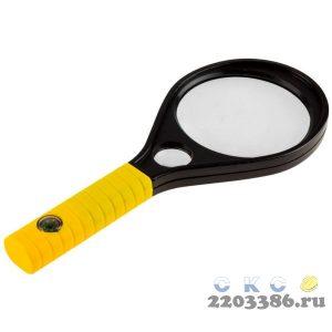"""Лупа STAYER """"MASTER"""", пластиковый корпус, 2-х/6-и кратное увеличение, диаметр 90мм"""