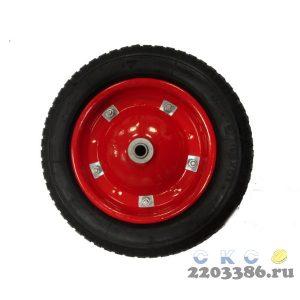 Колесо пневматическое 4.80/4.00х80 d=16мм для строительных одноколесных тачек (подшипник)