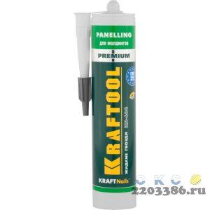 Клей монтажный KRAFTOOL KraftNails Premium KN-604, для молдингов, панелей и керамики, без растворителей, 310мл
