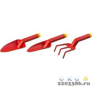 Набор GRINDA: Совок посадочный широкий, совок посадочный узкий, рыхлитель с нейлоновым корпусом, 3 предмета