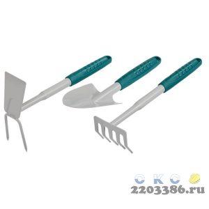 Набор RACO садовый: cовок 4207-53481, грабельки -53484, мотыжка -53486