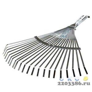 Грабли веерные RACO регулируемые, 22 плоских зубца, гальванизир. покр., 300-450мм