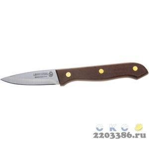 """Нож LEGIONER """"GERMANICA"""" овощной, тип """"Line"""" с деревянной ручкой, нерж лезвие 80мм"""