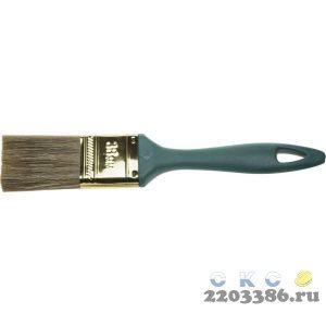 """Кисть ЗУБР """"КП-14"""" плоская, смешанная щетина, пластмассовая рукоятка, 38мм"""