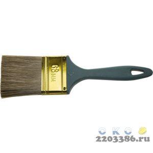 """Кисть ЗУБР """"КП-14"""" плоская, смешанная щетина, пластмассовая рукоятка, 63мм"""