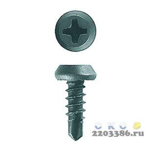 Саморезы КЛМ-СФ со сверлом для листового металла, 11 х 3.8 мм, 1 000 шт, фосфатированные, ЗУБР