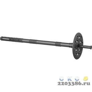 Дюбель для изоляционных материалов полипропиленовый, пластиковый стержень, 10 x 110 мм, 100 шт, ЗУБР