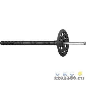 Дюбель для изоляционных материалов полипропиленовый, металлический стержень, 10 x 180 мм, 50 шт, ЗУБР