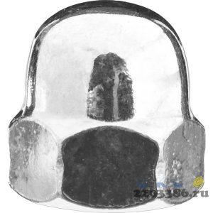 Гайка колпачковая DIN 1587, M12, 2 шт, оцинкованная, ЗУБР