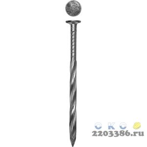 Гвозди винтовые оцинкованные, 50 х 2.8 мм, 350 шт, ЗУБР