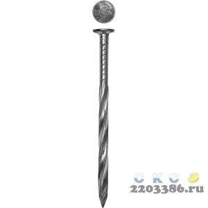 Гвозди винтовые оцинкованные, 90 х 3.4 мм, 12 шт, ЗУБР