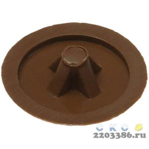 Заглушка декоративная под шуруп, цвет дуб, шлиц №2, 40шт, ЗУБР