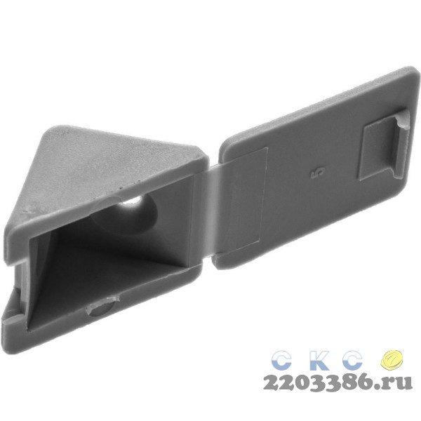 Уголок мебельный с шурупом, цвет св-серый, 4,0x15мм, 4шт, ЗУБР