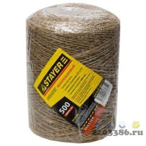 Шпагат STAYER хозяйственно-бытовой, льнопеньковый, d=1,4 мм, 500 м, 13,5 кгс, 1,25 ктекс