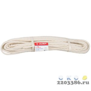 Фал ЗУБР капроновый, d=10,0 мм, 20 м, 2000 кгс, 51 ктекс