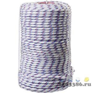 Фал плетёный полипропиленовый СИБИН 16-прядный с полипропиленовым сердечником, диаметр 8 мм, бухта 100 м, 520 кгс