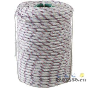 Фал плетёный полипропиленовый СИБИН 24-прядный с полипропиленовым сердечником, диаметр 10 мм, бухта 100 м, 700 кгс