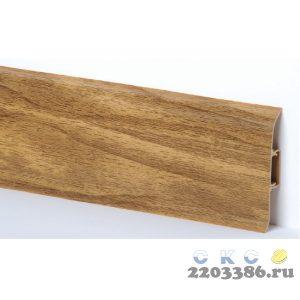 Плинтус СК 33 ОРЕХ СВЕТЛЫЙ с кабель-каналом Мягкий край (40)