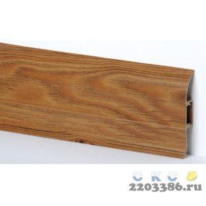 Плинтус СК 10 ДУБ МОРЕНЫЙ с кабель-каналом Мягкий край (40)