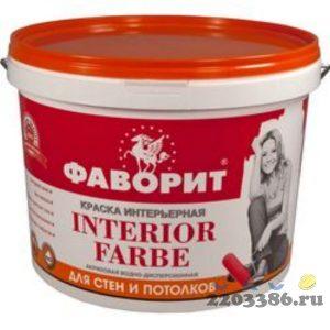 """Краска """"ФАВОРИТ"""" ВДАК 20И-1 для стен и потолков СУПЕРБЕЛАЯ (евроведро по 15кг) (акриловая водно-дисперсионная краска, повышенной белизны для получения"""