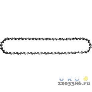 "Цепь для бензопилы, ЗУБР 70301-40, тип 1, шаг 3/8"", паз 0,050"", для шины 16""(40 см)"