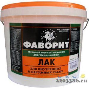 """Лак акриловый """"ФАВОРИТ"""" ВДАК-24 глянцевый Бесцветный (евроведро по 2,4 кг), 6 шт/уп"""