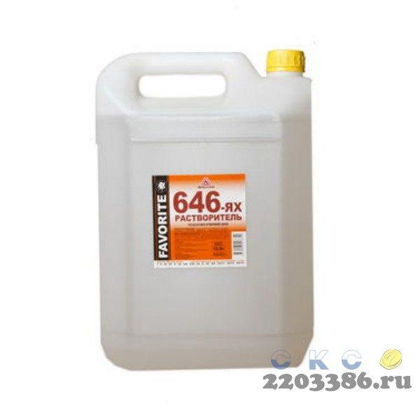 Растворитель 646 (по 5,0 л-канистра/3510гр+/-50гр) Фаворит, 6 шт/уп