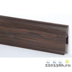 Плинтус СК 24 ОРЕХ ТЕМНЫЙ с кабель-каналом Мягкий край (40)