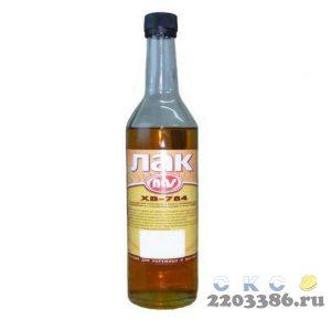 Лак быстросохнущий ХВ-784 ''Янтарь'' (по 0,5 л-стекло) г.Каменск-Шахтинский 12 шт/уп