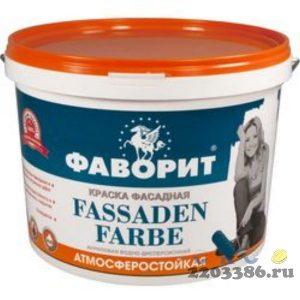 """Краска """"ФАВОРИТ"""" ВДАК-11 Фасадная белая (евроведро 15кг) (акриловая, влагостойкая, моющаяся, водно-дисперсионная, матовая краска для высококачественно"""