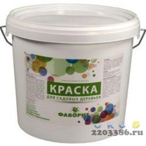 """Краска """"ФАВОРИТ"""" белая ВДАК-577К (3кг.) для садовых деревьев, 6 шт/уп (пласт. ведро по 3кг.) водно-дисперсионная акриловая"""