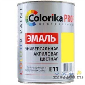 Эмаль Colorika Prof 0,9л желтая акриловая универсальная для наружних и внутренних работ,6шт/уп