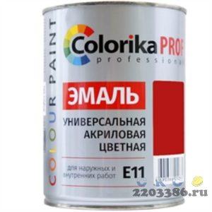 Эмаль Colorika Prof 0,9л красная акриловая универсальная для наружних и внутренних работ,6шт/уп