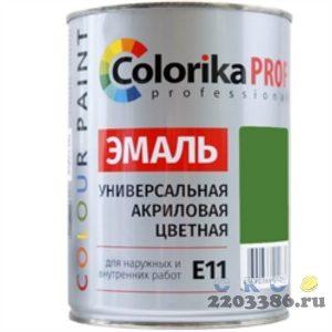 Эмаль Colorika Prof 0,9л салатовая акриловая универсальная для наружних и внутренних работ,6шт/уп