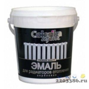 Эмаль Colorika Aqua для радиаторов отопления акриловая белая 0,8 кг , 12шт/уп
