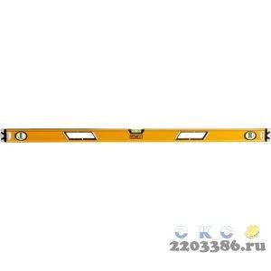 Уровень JCB коробчатый, магнитный, 2 фрезерованные базовые поверхности, 3 ампулы, крашенный, с ручками, 0,5мм/м, 120см