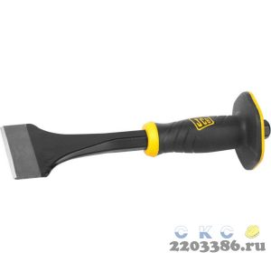 Зубило-конопатка JCB, двухкомпонентная рукоятка с протектором, CrV cталь, 275х75мм