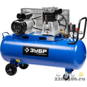 Компрессор воздушный ременной, 440 л/мин, 100 л, 2200 Вт, ЗУБР