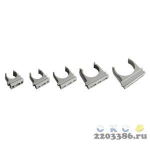 Держатель 16 мм ПВХ серый для труб (0616)  9753117