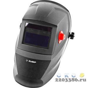ЗУБР МАСТЕР затемнение 4/9-13 маска сварщика с автоматическим светофильтром, сменные Li батареи