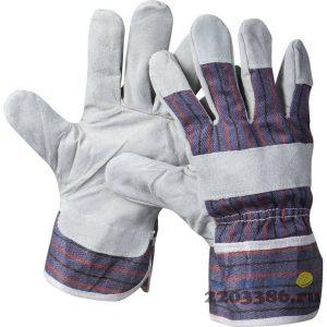"""Перчатки STAYER """"MASTER"""" рабочие комбинированные кожаные из спилка, XL"""