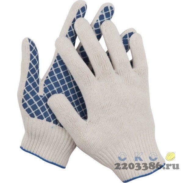 DEXX перчатки рабочие, х/б 7 класс, с обливной ладонью.