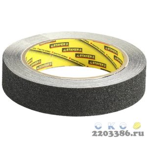 Клейкая лента, STAYER Profi 12270-25-05, противоскользящая, 25мм х 5м