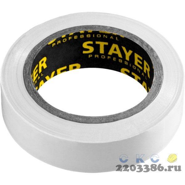 STAYER Protect-10 белая изолента ПВХ, 10м х 15мм