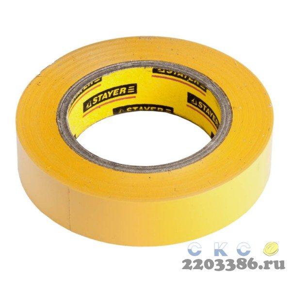 Изолента, STAYER Master 12291-Y-15-10, ПВХ, 5000 В, 15мм х 10м, желтая
